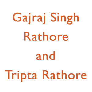 Gajraj Singh Rathore and Tripta Rathore